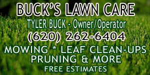 Buck's Lawn Care Advertisement